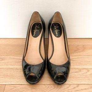 Cole Haan Patent Peep Toe Heels